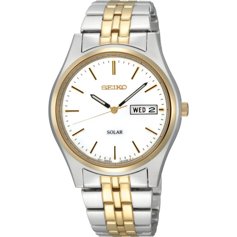 Mens Seiko Solar Powered Watch SNE032P1