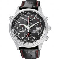 Herren Citizen Red Arrows World Time Chronograph Eco-Drive Watch CA0080-03E