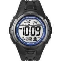 Herren Timex Indiglo Marathon Wecker Chronograf Uhr