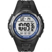 Herren Timex Indiglo Marathon Alarm Chronograph Watch T5K359