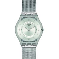 Unisex Swatch schmal Metall Knit Uhr