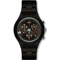 homme Swatch Smoky Brown Chronograph Watch SVCC4000AG