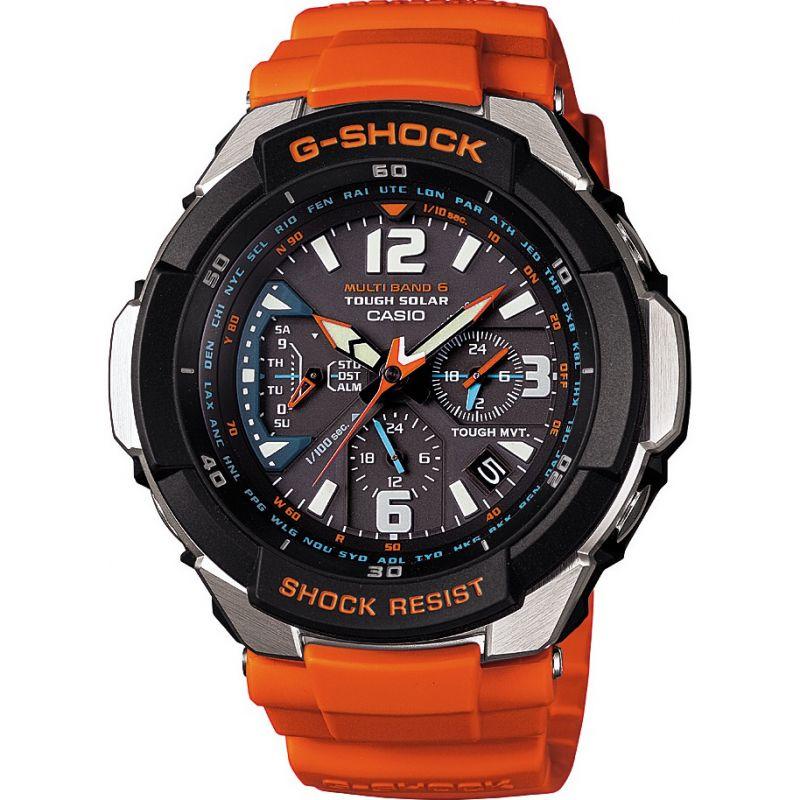 Herren Casio G-Shock Gravity Defier Alarm Chronograph Radio Controlled Watch GW-3000M-4AER