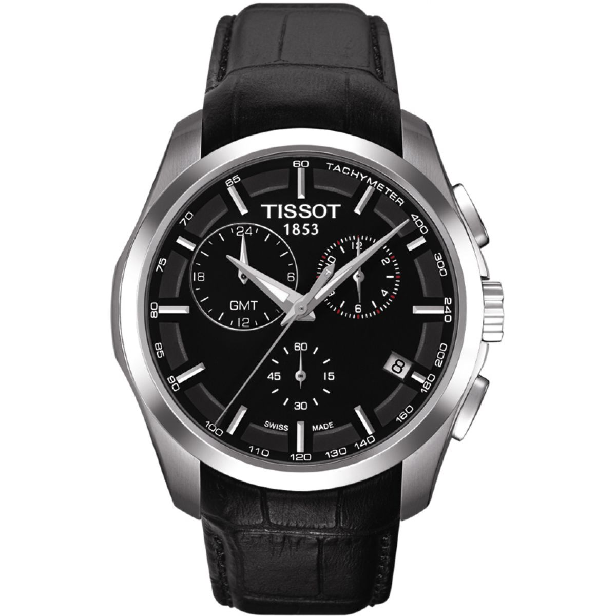 herren tissot couturier gmt chronograf uhr t0354391605100. Black Bedroom Furniture Sets. Home Design Ideas