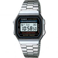 Casio Classic Unisexkronograf Silver A168WA-1YES