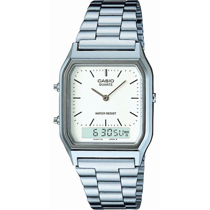 Herren Casio Classic Alarm Chronograph Watch AQ-230A-7DMQYES