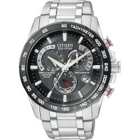 homme Citizen Chrono Perpetual A-T Alarm Chronograph Radio Controlled Watch AT4008-51E