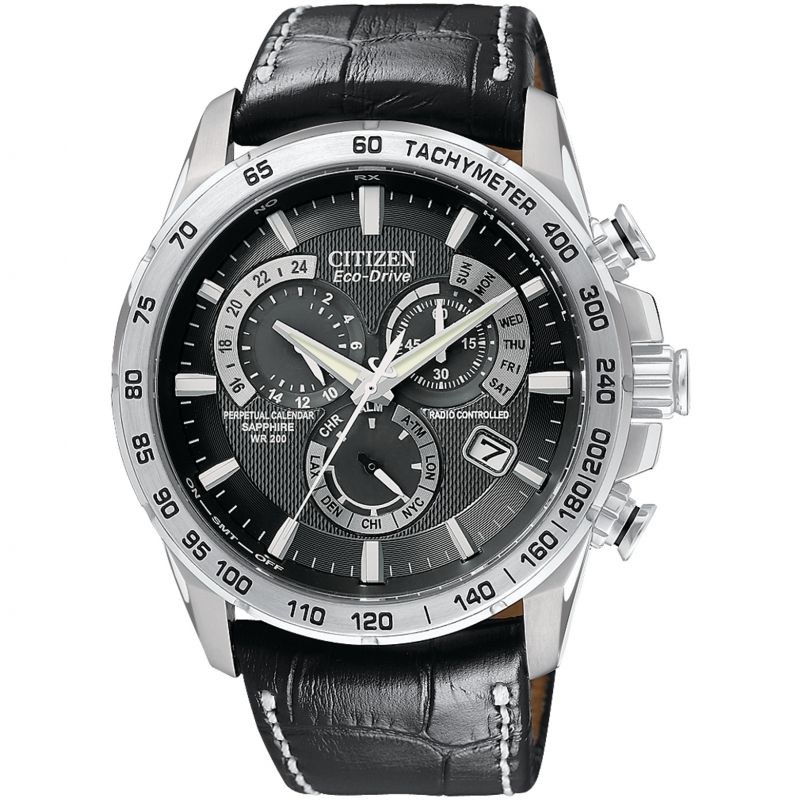 Citizen Chrono Perpetual A-T Herenchronograaf Zwart AT4000-02E