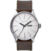 Nixon The Sentry Leather Herenhorloge Bruin A105-1113