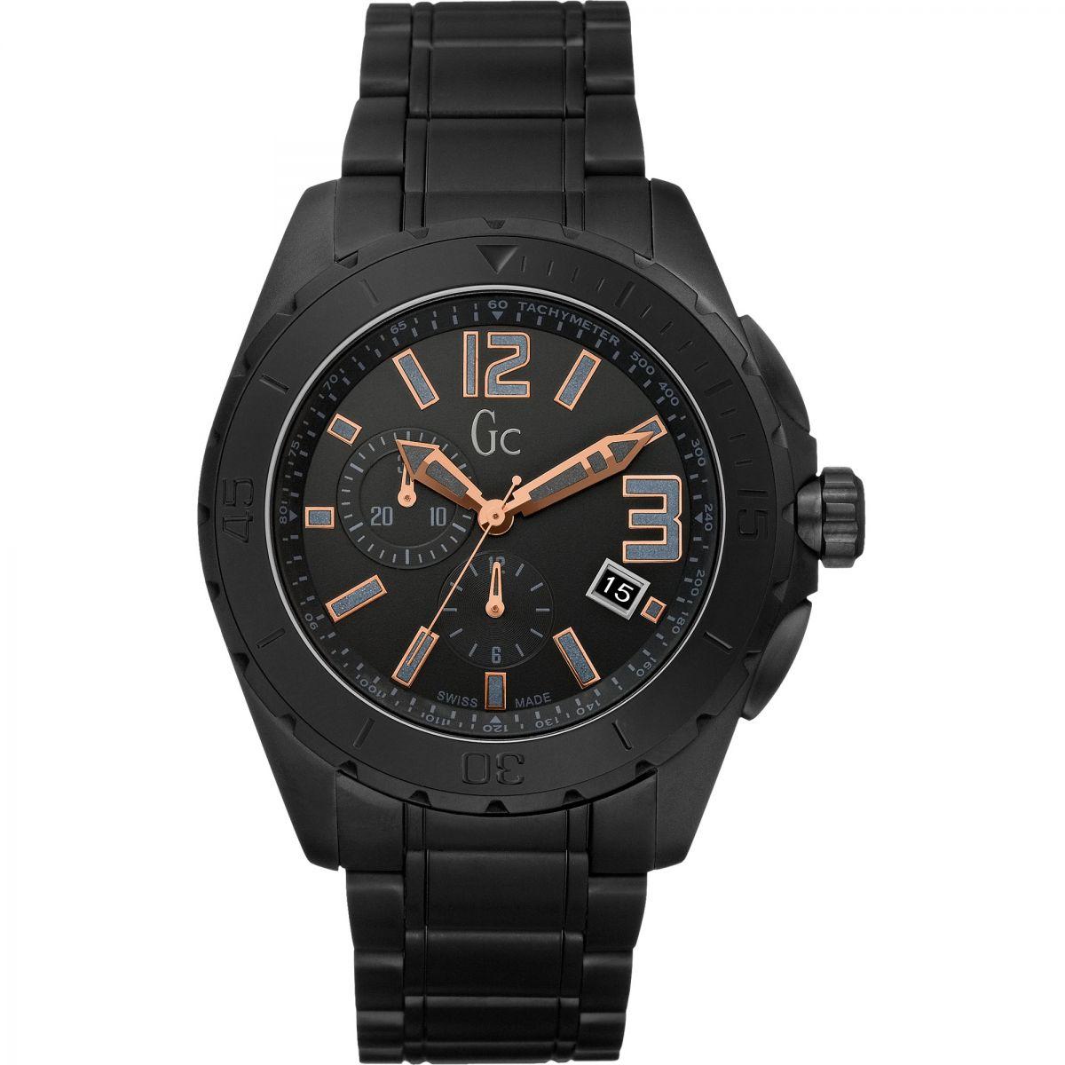 Gents Gc Sport Class XXL Blackout Watch (X76009G2S) | WatchShop.com™