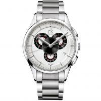 Herren Calvin Klein schlicht Chronograf Uhr