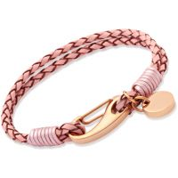 Biżuteria damska Unique & Co Pink Leather Bracelet B64PI/19CM
