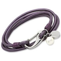 Biżuteria damska Unique & Co Berry Leather Bracelet B67BE/19CM