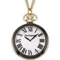 Unisex Old England Schwarz And Weiß Anhänger Uhr