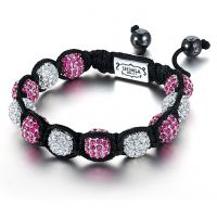 Ladies Shimla Stainless Steel Luxury Originals Fuchsia And Silver Bracelet Small SH-050S
