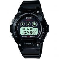 Herren Casio Sport Alarm Chronograph Watch W-214HC-1AVEF