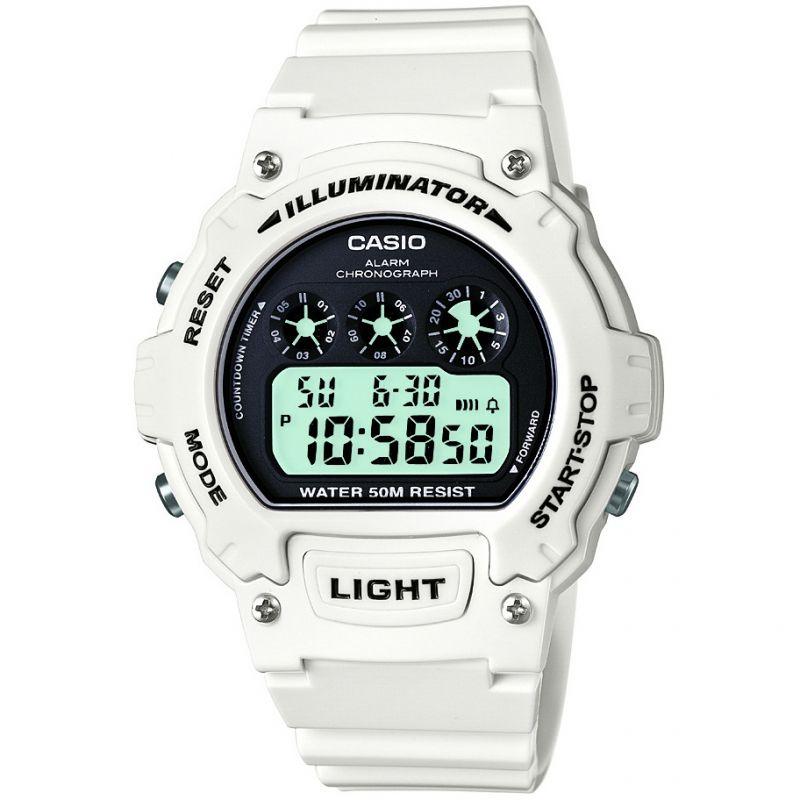 Herren Casio Sport Alarm Chronograph Watch W-214HC-7AVEF