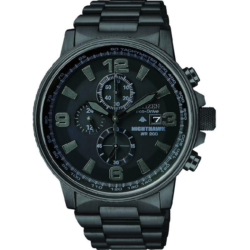 Herren Citizen Nighthawk Chronograph Eco-Drive Watch CA0295-58E