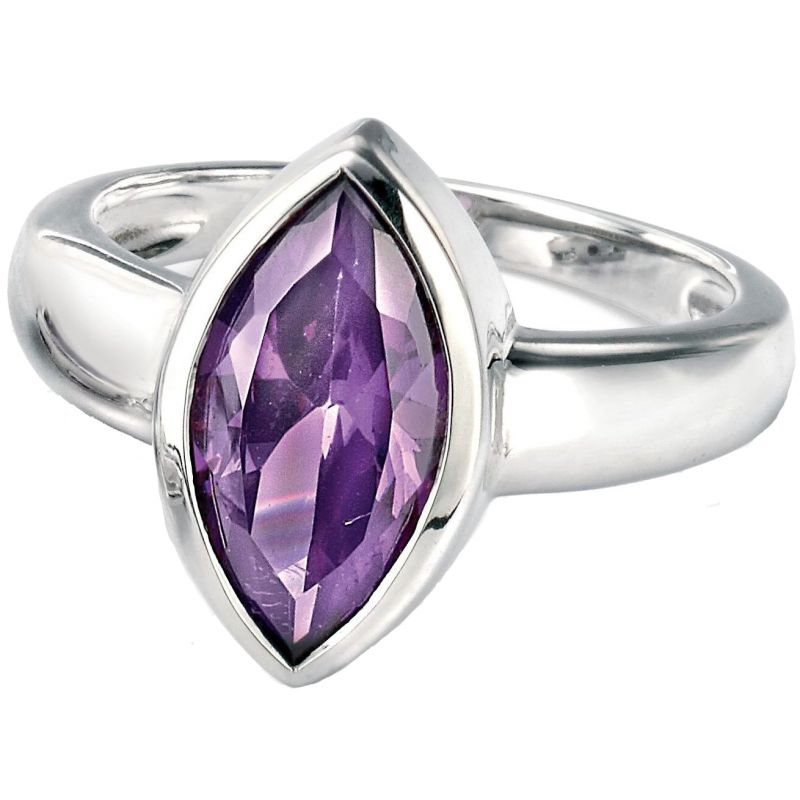 Ladies Fiorelli Sterling Silver AMY CZ Marquise RING R3084ML