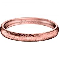 Ladies Calvin Klein PVD rose plating Small Dawn Bangle