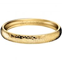 Ladies Calvin Klein PVD Gold plated Dawn Bangle KJ68BB02020S