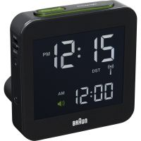 Wanduhr Braun Clocks Travel Alarm Clock Radio Controlled BNC009BK-RC