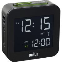 Wanduhr Braun Clocks Travel Alarm Clock Radio Controlled BNC008BK-RC