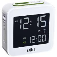 horloge Braun Clocks Travel Alarm Clock Radio Controlled BNC008WH-RC