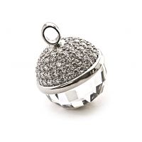 Ladies Zinzi Sterling Silver pendant 25mm CZ WHITE