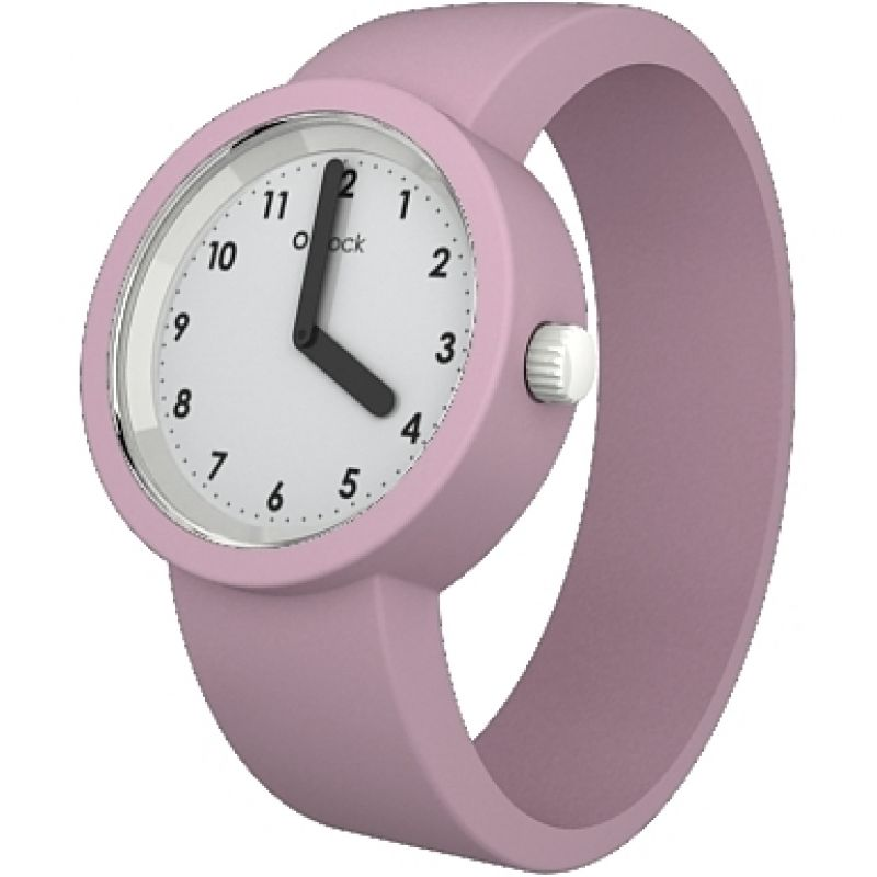 Unisex OClock Numbers White Face Powder Pink Strap Small OCNW15