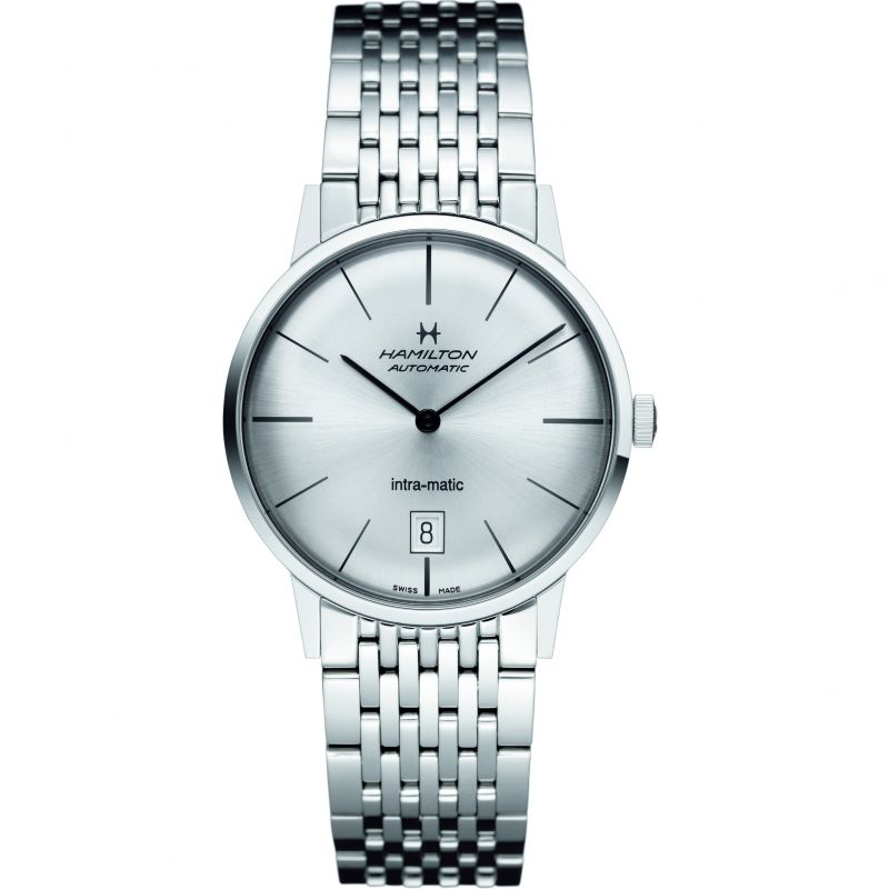 Mens Hamilton Intra-Matic 38mm Automatic Watch H38455151
