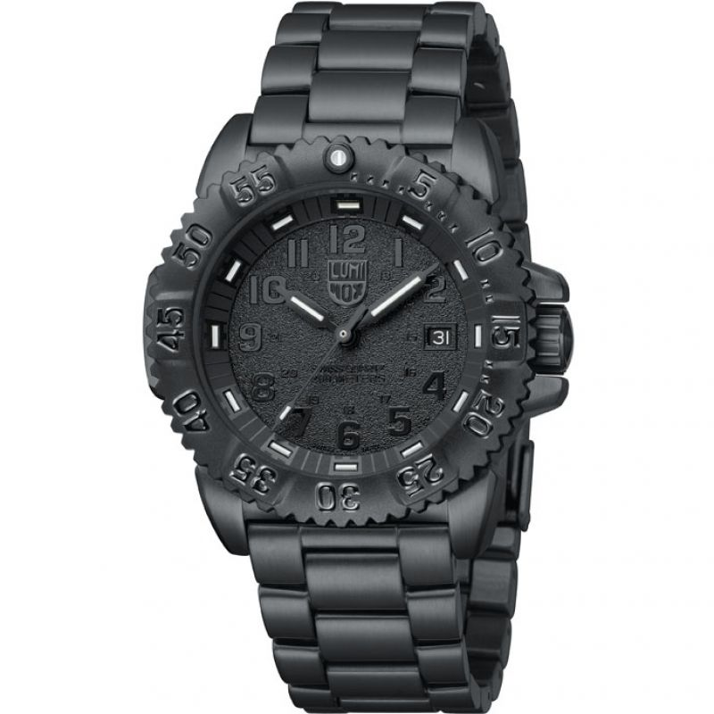 Herren Luminox Navy SEAL Steel Colormark 3150 Series Blackout Watch A3152.BO
