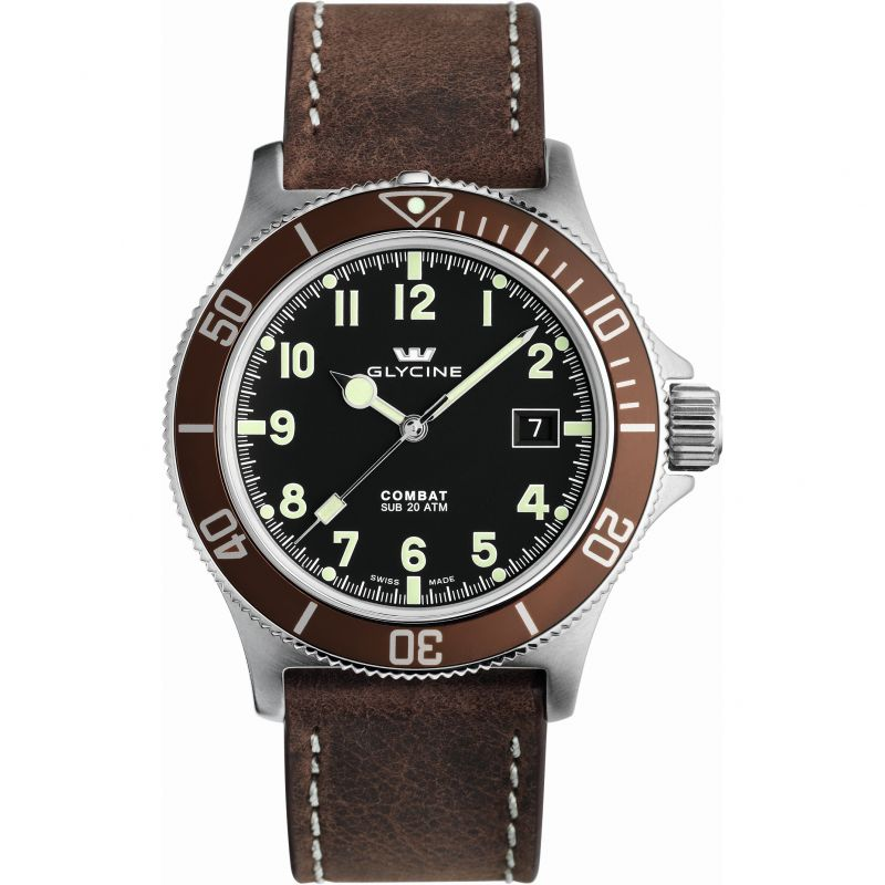 Mens Glycine Combat SUB Automatic Watch 3908.19AT2C-LB7
