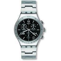 Herren Swatch Blustery Schwarz Chronograf Uhr