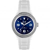 Ice-Watch Ice-Blue Stones - white/blue unisex Dameshorloge Wit IB.ST.WBE.U.S.12