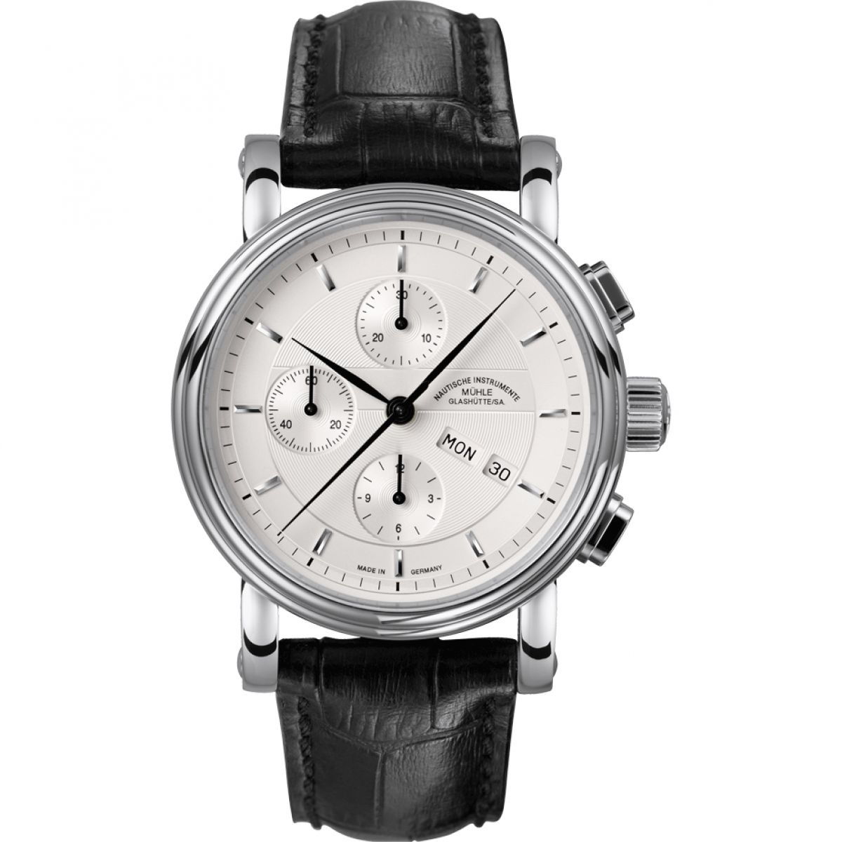 Gents muhle glashutte teutonia ii chronograph watch m1 30 95 lb for Muhle watches
