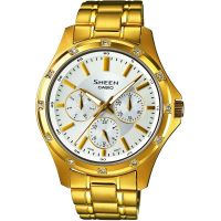 Damen Casio Sheen Watch SHE-3801GD-7AEF