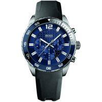 Herren Hugo Boss tief Blau Chronograf Uhren