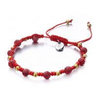 Ladies Shimla PVD Gold plated Light Siam Bracelet SH-918