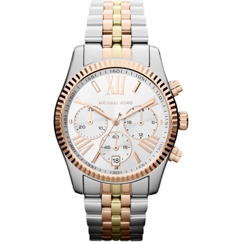 femme Michael Kors Lexington Chronograph Watch MK5735