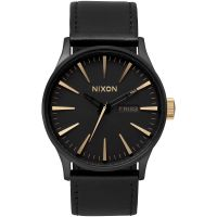 Nixon The Sentry Leather Herenhorloge Zwart A105-1041