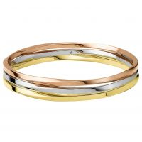 Ladies Calvin Klein Two-tone steel/gold plate Exclusive Bangle Regular KJ0KDD30010S