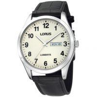 Herren Lorus Lumibrite Dial Leather Strap Watch RJ647AX9