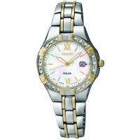Ladies Seiko Diamond Solar Powered Watch SUT068P9