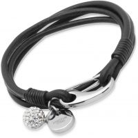 Biżuteria damska Unique & Co Black Leather Bracelet 19cm B152BL/19CM
