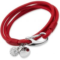 femme Unique & Co Red Leather Bracelet 19cm Watch B152RE/19CM