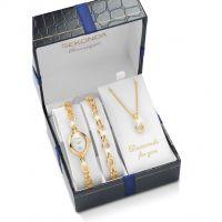 Damen Sekonda Classique Necklace Bracelet Gift Set Watch 4131G