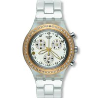 Femmes Swatch Plein-Blooded Marvelous Jaune Chronographe Montre
