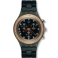 Damen Swatch Full-Blooded Stoneheart Black Chronograph Watch SVCM4008AG