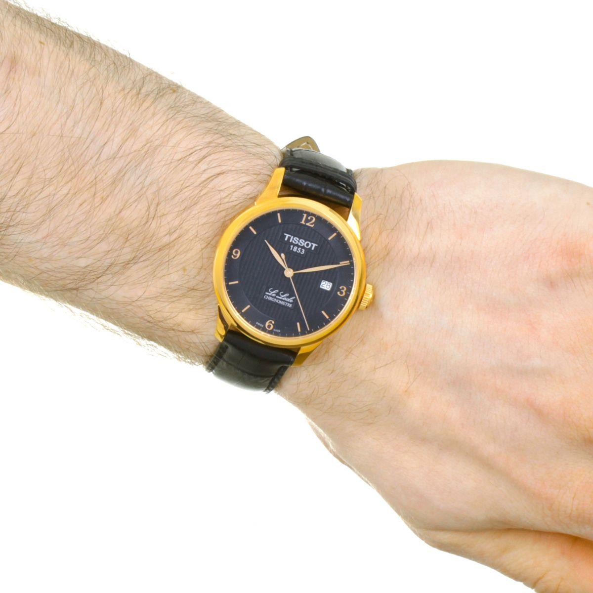 herren tissot le locle chronometer automatik uhr t0064083605700. Black Bedroom Furniture Sets. Home Design Ideas